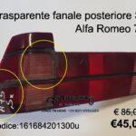 Trasparente rosso fanale posteriore Sx Alfa Romeo 75 88>93