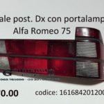 Fanale posteriore Dx rosso con portalampade Alfa Romeo 75 88>93