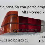 Fanale posteriore Sx arancio con portalampade Alfa Romeo 75 83>88
