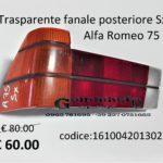 Trasparente fanale posteriore Sx arancio Alfa Romeo 75 83>88