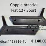 Coppia braccioli Fiat 127 Sport