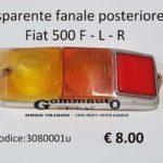Trasparente fanale posteriore Dx Fiat 500 F - L- R