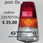 Trasparente fanale posteriore Dx Fiat Panda 30/45 80>86