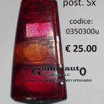 Trasparente fanale posteriore Sx Fiat Panda 30/45 80>86