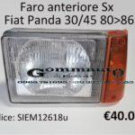 Faro anteriore Sx Fiat Panda 30/45 80>86