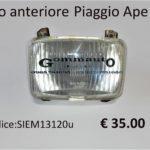 Faro anteriore Piaggio APE 50