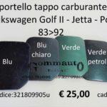 Sportello tappo carburante Volkswagen Golf II - Jetta - Polo 83>92