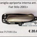 Maniglia apriporta interna anteriore Sx Fiat Stilo 01>