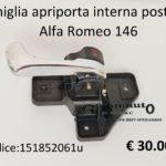 Maniglia apriporta interna posteriore Dx Alfa Romeo 146 95>00
