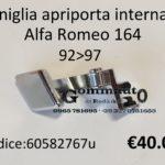 Maniglia apriporta interna Dx Alfa Romeo 164  92>97