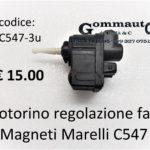 Motorino regolazione fari Magneti Marelli C 547