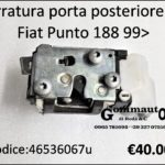 Serratura porta posteriore Dx Fiat Punto 188 99>