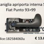 Maniglia apriporta interna Sx ant=post Fiat Punto 93>99