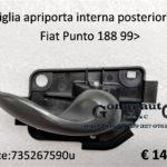 Maniglia apriporta interna anteriore Dx Fiat Punto 188 99>