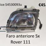 Faro anteriore Sx Rover 111