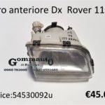 Faro anteriore Dx Rover 111