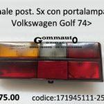 Fanale posteriore con portalampade Sx Volkswagen Golf 74>