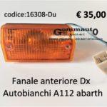 Fanale anteriore Dx Autobianchi A112 Abarth