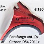 Parafango anteriore Dx Citroen DS4 2011>