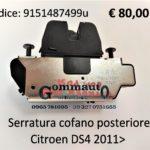 Serratura cofano posteriore Citroen DS4 2011>