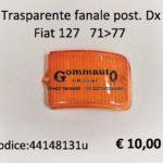 Trasparente fanale posteriore Dx Fiat 127   71>77