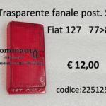 Trasparente fanale posteriore Sinistro Fiat 127 II serie