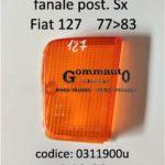 Trasparente arancio fanale posteriore Sx Fiat 127 C-CL-L  77>83