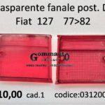 Trasparente fanale posteriore Dx Fiat 127 II serie