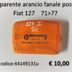 Trasparente arancio fanale posteriore Sx Fiat 127 71>77