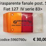 Trasparente fanale posteriore Sx Fiat 127 83>