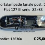 Portalampade fanale posteriore Dx Fiat 127 III serie 82>83