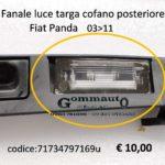 Fanale luce targa cofano post. Fiat Panda 169