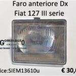 Faro anteriore Dx Fiat 127 III serie 82>83