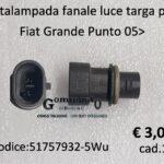Portalampada fanale luce targa posteriore Fiat Grande Punto / evo - Nuova Bravo- Alfa Romeo Mito