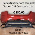 Paraurti posteriore completo Citroen DS4 Crossback 11>18