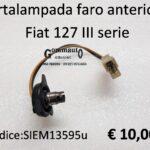 Portalampada faro anteriore Fiat 127 III serie 82>83