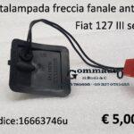 Portalampada freccia fanale anteriore Sx Fiat 127 III serie 82>83