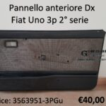 Pannello porta anteriore Dx Fiat Uno 3 porte IIª serie