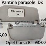 Pantina parasole Dx Opel Corsa B 93>00