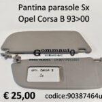Pantina parasole Sx Opel Corsa B 93>00