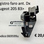 Registro faro anteriore Dx Peugeot 205 83>
