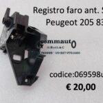 Registro faro anteriore Sx Peugeot 205 1983>