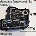 Portalampade fanale posteriore Sx Fiat 500 07>