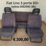Serie sedili Fiat Uno 3 porte 83>