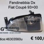 Fendinebbia Dx Fiat Coupè 93>00