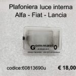 Plafoniera luce interna Alfa Romeo Fiat Lancia