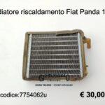 Radiatore riscaldamento Fiat Panda 141 fire/Seat Marbella