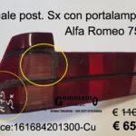 Fanale posteriore Sx rosso completo Alfa Romeo 75  88>93