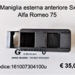 Maniglia esterna porta anteriore Sx Alfa Romeo 75