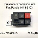 Pulsantiera comando luci Fiat Panda 141 86>03